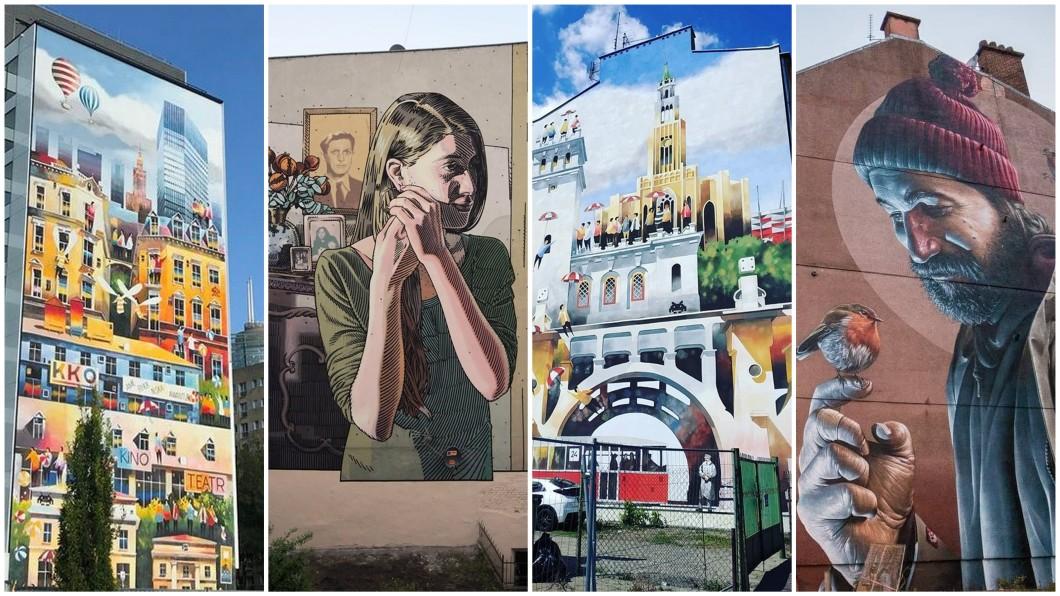 Przykładowe murale, które stały się elementem przyciągającym turystów